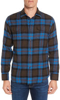 Grayers Ludlow Trim Fit Plaid Flannel Sport Shirt