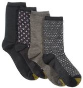 Gold Toe Women's 4-Pk. Octagon Diamond Foulard Socks