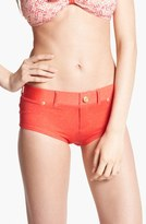 Marc by Marc Jacobs Denim Hipster Bikini Bottoms Coral X-Large