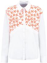 Tanya Taylor Ryan embroidered cotton-blend poplin shirt