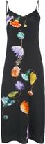 Tibi floral print silk slip dress