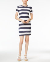 MICHAEL Michael Kors Rugby Stripe Shift Dress