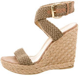 Stuart Weitzman Woven Wedge Sandals