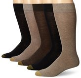 Gold Toe Men's Flat Knit Crew 5 Pack