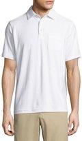 Peter Millar Seaside Terry Polo Shirt, White