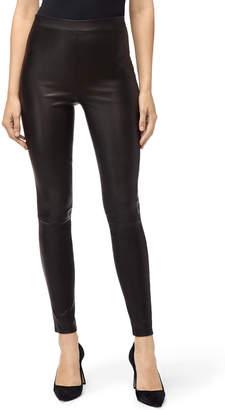 J Brand Macey High-Rise Pull-On Lambskin Leather Leggings