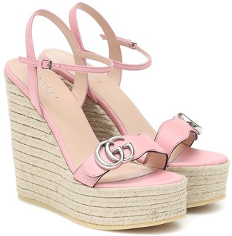 Gucci Leather espadrille wedges