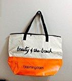Bloomingdale's BLOOMINGDALE 'S Cometic Tote Bag - ORANGE & IVORY