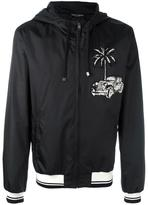 Dolce & Gabbana car & palm patch jacket - men - Polyester - 46