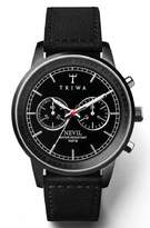 Triwa Midnight Nevil Men's Chronograph Watch Black Sewn Classic NEST111 SC010112