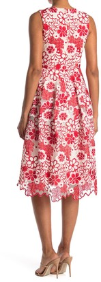 Taylor Midi Sleeveless Scalloped Floral Dress