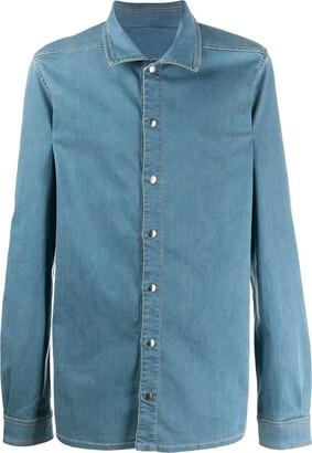 Rick Owens Snap Button Denim Shirt