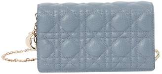 Christian Dior Blue Leather Clutch bags