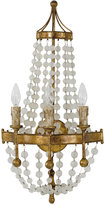 Regina Andrew Scalloped Frosted Crystal Bead Glass & Metal Wall Sconce