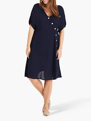 Studio 8 Annalise Button Dress, Navy