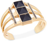 INC International Concepts Gold-Tone Triple-Stone Cuff Bracelet, Only at Macy's