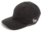 MAISON KITSUNÉ Fox-embroidered wool-blend cap