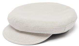 Ann Demeulemeester Cotton-blend Baker Boy Cap - Mens - Cream