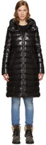 Moncler Black Down Moka Coat