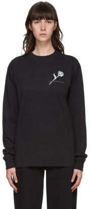 Alexander Wang Black Money Rose Long Sleeve T-Shirt