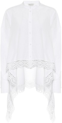 Alexander McQueen Lace-trimmed cotton shirt