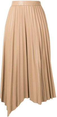 Jonathan Simkhai Asymmetric Pleated Midi Skirt