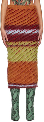 Y/Project Multicolor Knit Stripe Skirt