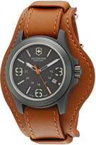 Victorinox Men's V241593 'Original' Dial Brown Leather Strap Swiss Quartz Watch