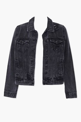 Forever 21 Plus Size Distressed Denim Jacket