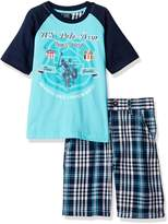 U.S. Polo Assn. Little Boys' Screen Printed Graphic T-Shirt with Short Set