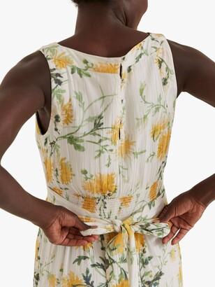 Fat Face FatFace Laurie Floral Print Midi Dress, Ecru