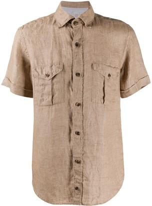 Eleventy double chest pocket shirt