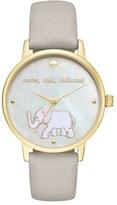 Kate Spade 'metro' Elephant Leather Strap Watch, 34mm