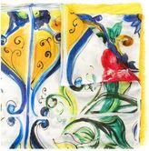 Dolce & Gabbana Majolica print scarf