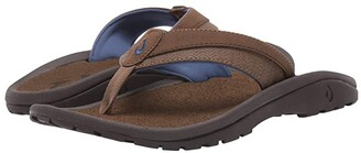 OluKai 'Ohana Koa (Espresso/Mustang) Men's Sandals