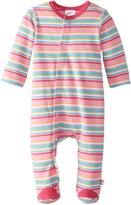 Zutano Baby-Girls Multi Stripe Footie