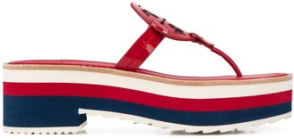 Tory Burch striped sole flip-flops