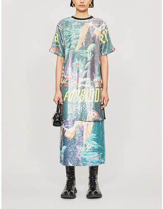 Selfridges Ragyard Graphic-print sequin and cotton dress