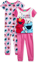 Sesame Street 4-Pc. Cotton Pajama Set, Toddler Girls (2T-5T)