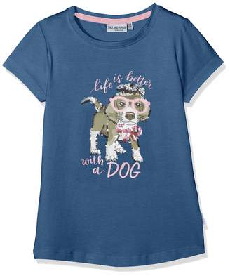 Salt&Pepper Salt and Pepper Girls' T-Shirt Friend uni Hund Glitte