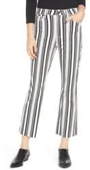 Tinsel Stripe Crop Flare Jeans
