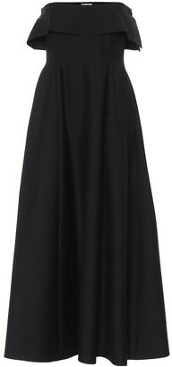 The Row Dario wool and mohair gown