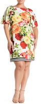 Taylor Printed Shadow Crepe Dress (Plus Size)