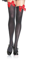 Leg Avenue Over-the-Knee Bow Nylons