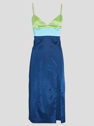 STAUD Ellis Colorblock Midi Dress with Slit