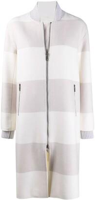 Lorena Antoniazzi Caban striped coat