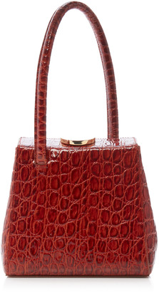 Little Liffner Mademoiselle Croc Embossed Leather Bag