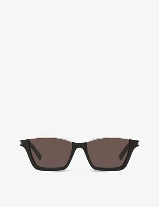 Saint Laurent SL365 Dylan rectangle-frame nylon sunglasses