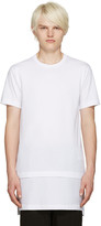 Comme des Garcons White Layered T-shirt