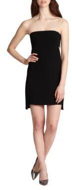 Robert Rodriguez Strapless Crepe Cutout Dress